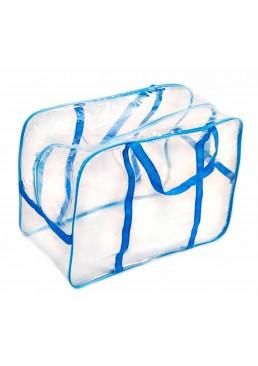 Прозрачная сумка в роддом в ассортименте большая, 1 шт ( 55 х 34 х 18 см)