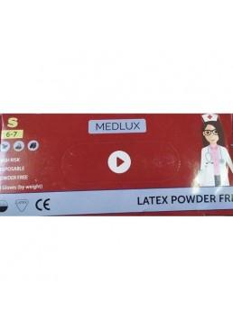 Амбулаторные перчатки MEDlux латекс, непудренные (размер S), 50 шт