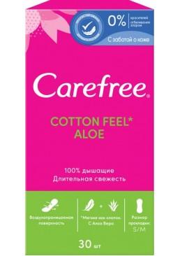 Гигиенические прокладки Carefree Сotton Aloe с экстрактом хлопка и алоэ, 30 шт