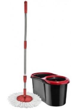 Швабра-лентяйка Zambak Plastik с ведром и автоматической отжимом круглая, 1 шт