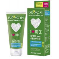 Крем для обличчя Біокон I Love Rice з рисової водою і гіалоуроном, 60 мл