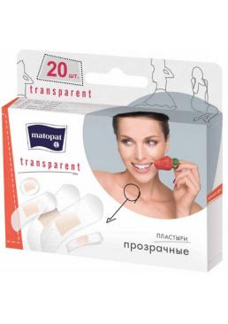 Пластырь медицинский Mаtораt Transparent на прозрачной основе, 20 шт