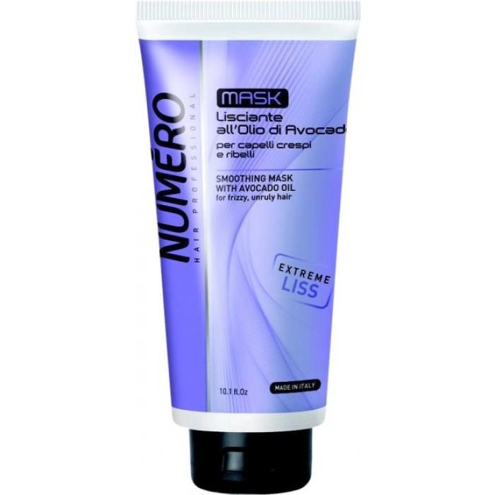Разглаживающая маска для волос Brelil Professional Numero Smoothing Shampoo с маслом авокадо, 300 мл -