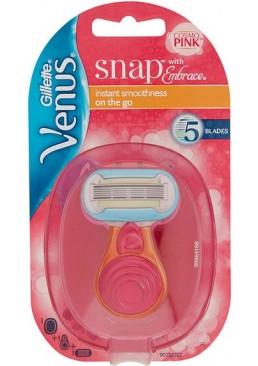 Бритва женская с 1 сменной кассетой Gillette Venus Snap with Embrace