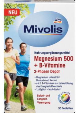 Витаминный комплекс Mivolis Magnesium 500 + B-Vitamine 2-Phasen Depot, 30 шт