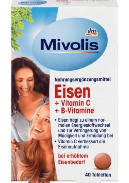 Биологически активная добавка Mivolis Eisen, Vitamin C, Vitamin B12, Vitamin B6, 40 шт