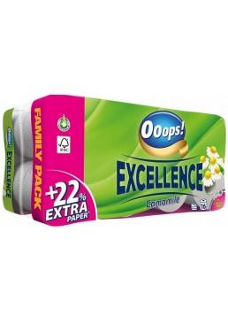 Туалетная бумага 3-х слойная Ooops! Excellence Camomile, 8 шт (150 отрывов)