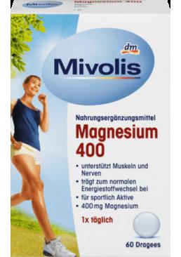 Биологически активная добавка драже магния 400 DM Mivolis, 60 шт