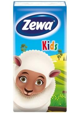 Платочки бумажные трехслойные Zewa Kids, 10 шт (1 упаковка)