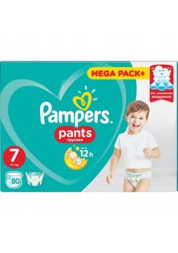 Подгузники-трусики Pampers Pants Размер 7 (17+ кг), 80 шт