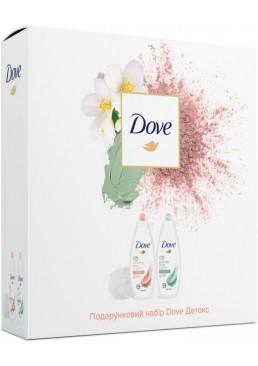 Подарочный набор Dove Детокс (крем гель для душа 2 шт + мочалка для тела)
