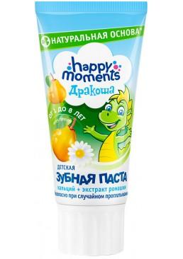 Детская гелевая зубная паста Дракоша Happy Moments со вкусом груши, 60 мл