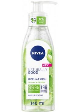 Мицеллярный гель Nivea Naturally Good для умывания, 140 мл