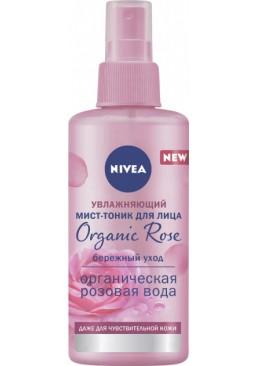 Мист-тоник для лица Nivea Organic Rose увлажняющий, 150 мл