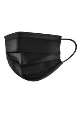 Медицинская маска защитная Черная в упаковке, 10 шт
