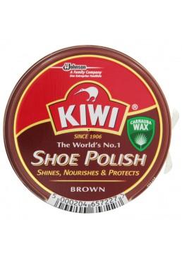Крем для обуви в банке KIWI Shoe Polish Коричневый, 50 мл