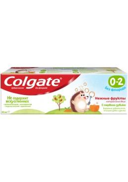 Детская зубная паста Colgate без фтора Нежные фрукты от 0 до 2 лет, 40 г