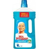 Моющая жидкость для полов и стен Mr. Proper Чистота и блеск Океанская свежесть, 1 л