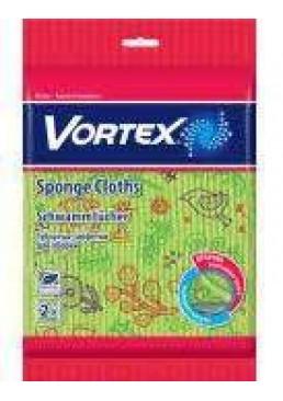 Салфетки губчатые для уборки Vortex 2шт