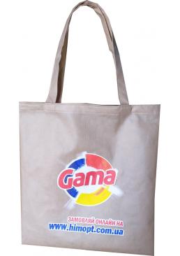 Эко-сумка шоппер для покупок ХимОпт Gama фирменная, 38 х 42 см