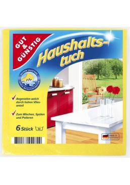 Салфетка микрофибра G&G Haushalts-tuch для уборки, 6 шт
