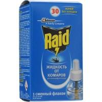Жидкость от комаров для электрофумигаторов Raid 30 ночей, 22 мл