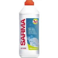 Средство для мытья посуды SARMA 7в1 Яблоко, 0,5л