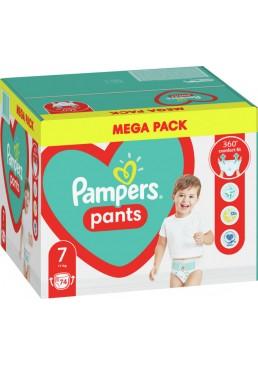 Подгузники - трусики Pampers Pants Размер 7 (17+ кг), 74 шт