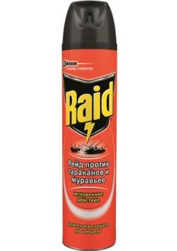 Аэрозоль против тараканов и муравьев Raid, 300 мл