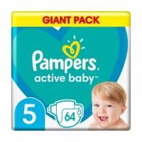 Подгузники Pampers Active Baby размер 5 (11-16 кг), 64 шт