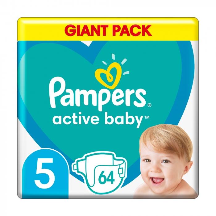Подгузники Pampers Active Baby размер 5 (11-16 кг), 64 шт -