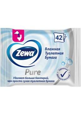 Влажная туалетная бумага Zewa Pure Moist, 42 шт