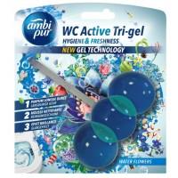 Гелевая подвеска для туалета Ambi Pur WC Active Tri-gel Водяная лилия, 45 г