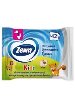 Влажная туалетная бумага Zewa Kids Moist, 42 шт