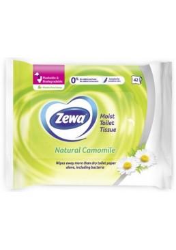 Влажная туалетная бумага Zewa Natural Camomile Moist, 42 шт
