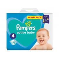 Подгузники Pampers Active Baby размер 4 (7-14 кг), 76 шт