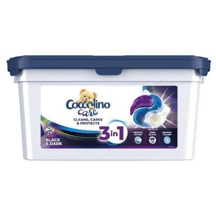 Гель-капсулы для стирки Coccolino Black & Dark для черных и темных вещей, 29 шт -