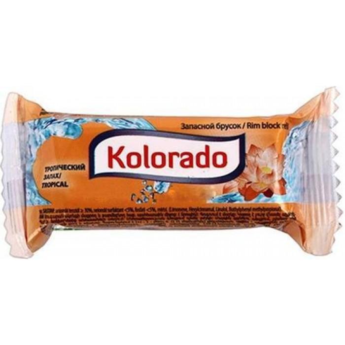 Освежитель для унитаза Kolorado туалетный брусок запасной тропический, 40 г -