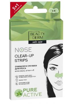 Очищающие полоски для носа с экстрактом Алоэ Вера Beauty Derm Nose Clear-Up Strips, 6 шт
