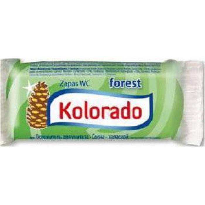 Освежитель для унитаза Kolorado туалетный брусок запасной хвоя, 40 г -