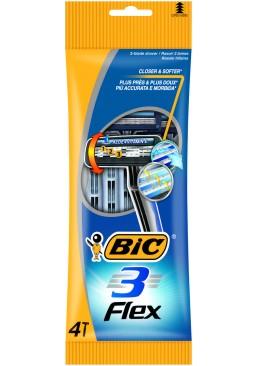 Набор одноразовых бритв BIC Flex 3, 4 шт