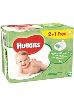 Салфетки влажные Huggies Natural Care 2+1 (56 х 3 шт), 168 шт