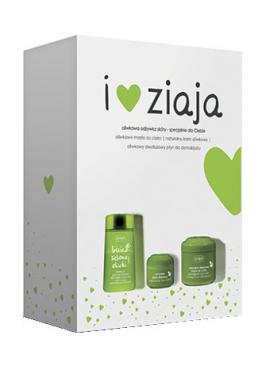 Набор косметики Ziaja Зеленые оливки (крем для лица, масло для тела, жидкость для демакияжа)