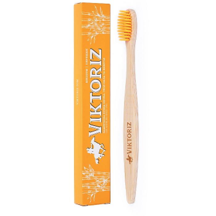 Бамбуковая зубная щетка Viktoriz Los Angeles воя сила и энергия, 1 шт -