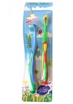 Детская зубная щетка Tabaluga 0-6 лет 2 шт