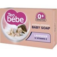 Мыло детское Teo bebe с экстрактом Лаванды + витамин Е, 75 г