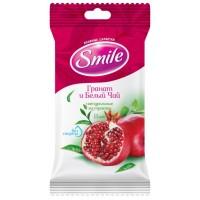 Влажные салфетки Smile Гранат и белый чай, 15 шт
