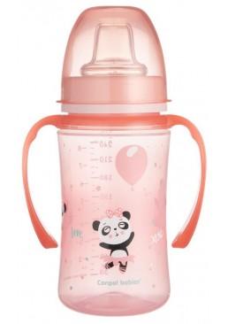 Кружка-непроливайка EasyStart Canpol babies Розовые зверьки (c 6 месяцев), 240 мл