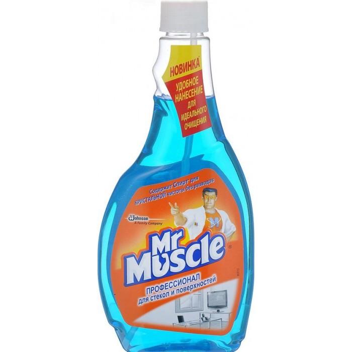 Средство для мытья стекол и других поверхностей Mr Muscle Профессионал со спиртом (запаска), 500 мл -