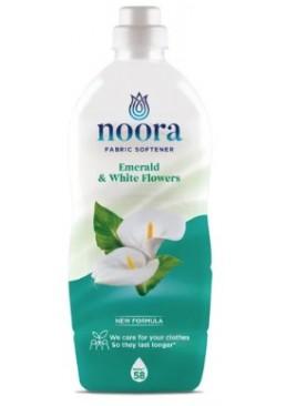 Кондиционер для белья Noora Emerald & White Flowers Изумруд и белые цветы, 928 мл (58 стирок)